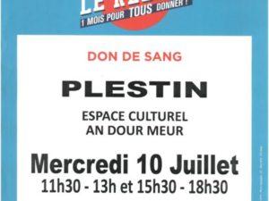 DON DE SANG LE 10/07 PLESTIN