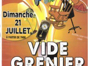 LE 21/07 VIDE GRENIER