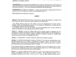 ARRÊTE PORTANT OBLIGATION DU MASQUE DANS LES CÔTES-D'ARMOR